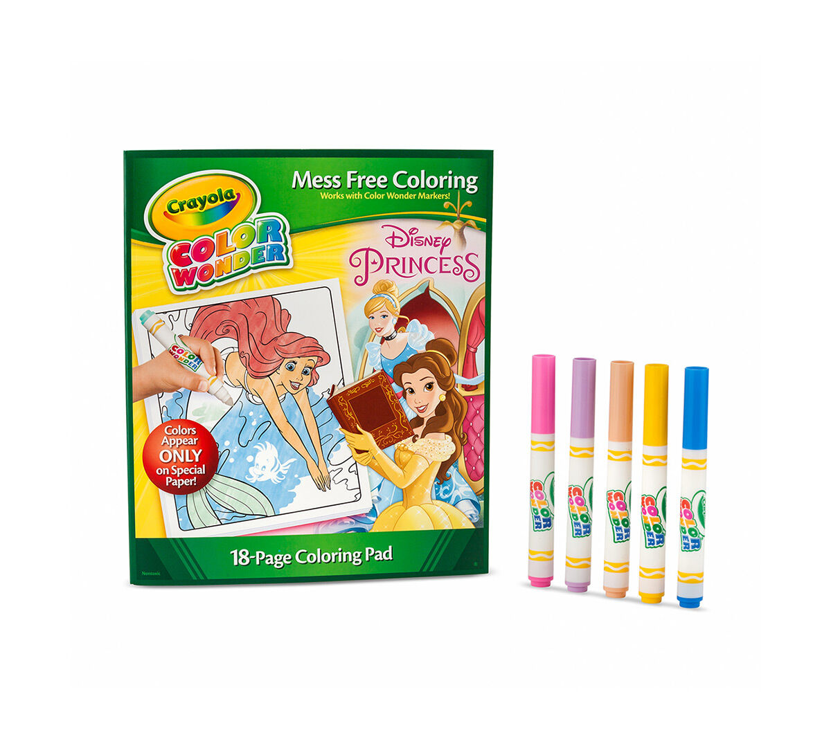color wonder coloring pad markers disney princess
