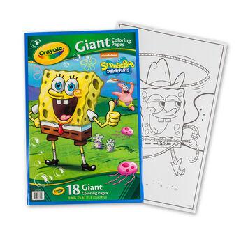 Giant Coloring Pages, Sponge Bob Square Pants