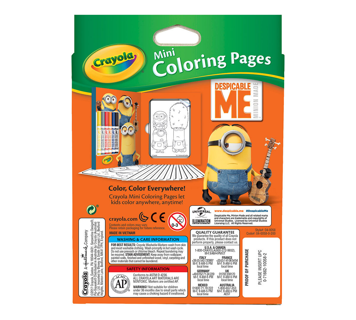 Crayola Mini Coloring Pages Crayola Mini Coloring Pages Despicable Me Edition Art Activity .