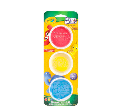 Model Magic Reusable Tubs, Primary Colors 3 ct.