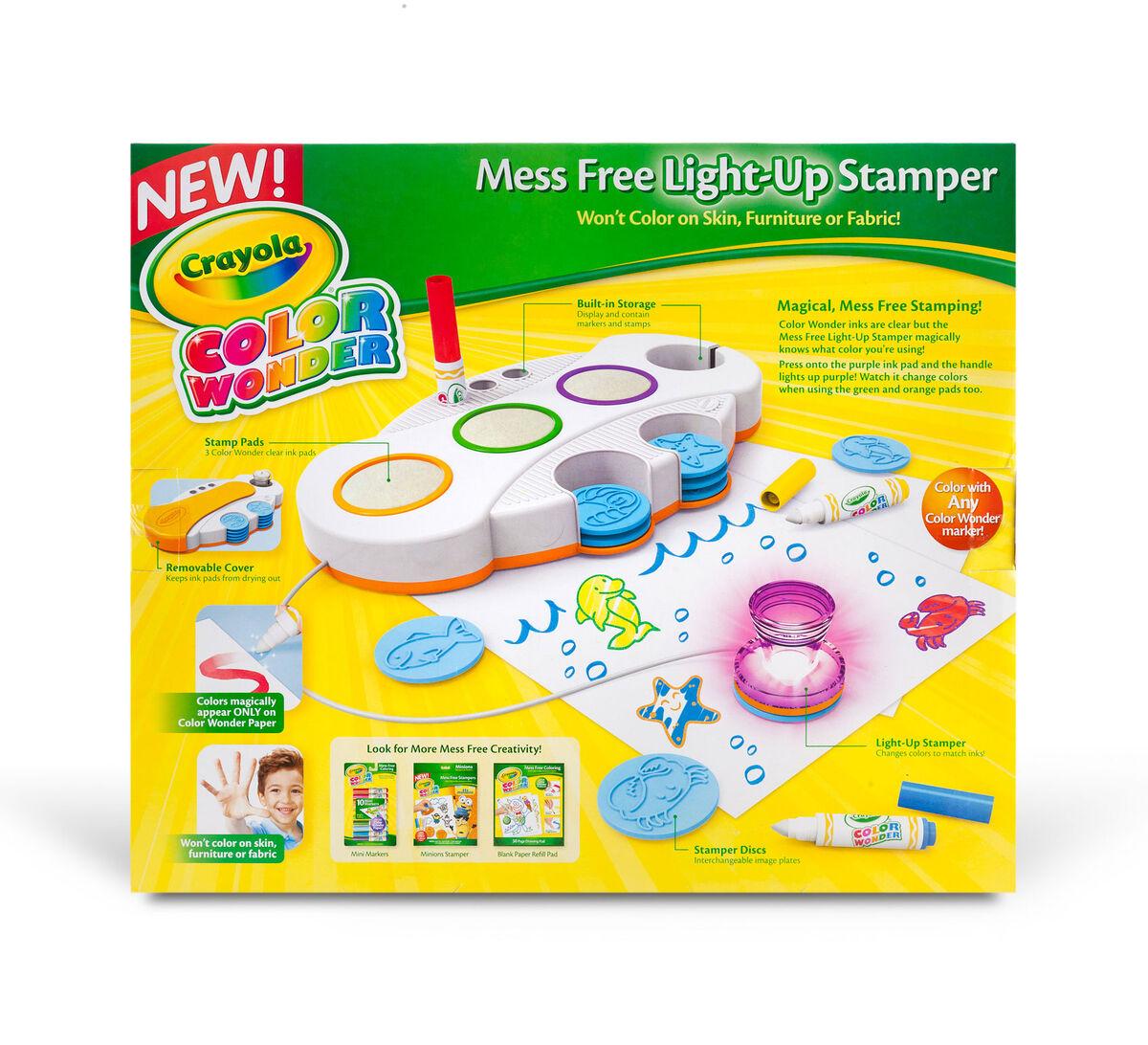 Color Wonder Mess Free Light Up Stamper Crayola