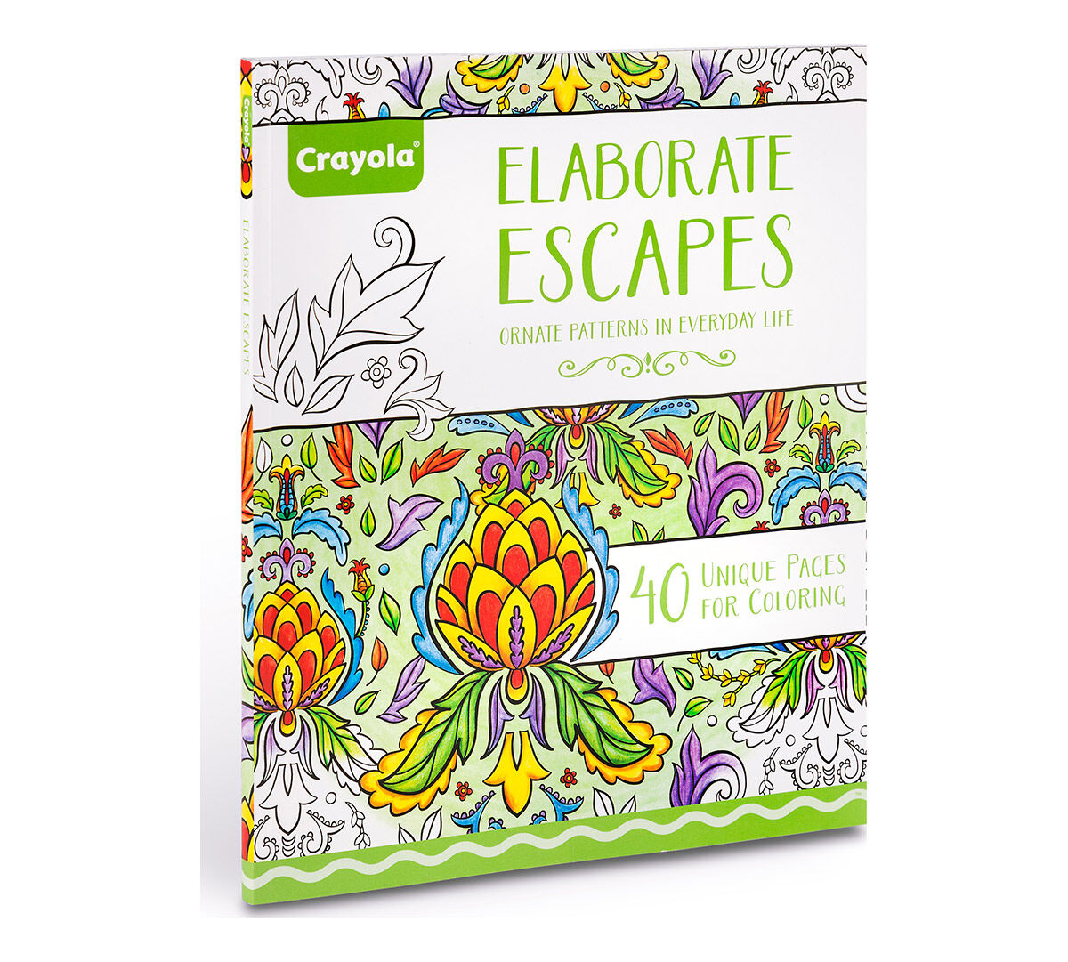 crayola elaborate escapes coloring art activity 40 pages