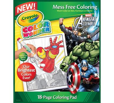 color wonder avengers refill book - Color Wonder Coloring Books