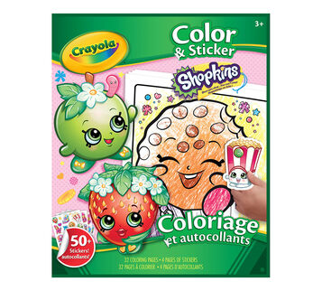 Coloring & Sticker Book Shopkins