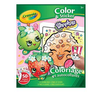 coloring sticker book shopkins