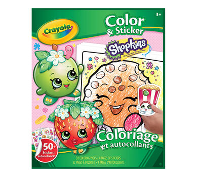 Coloring Amp Sticker Book Shopkins