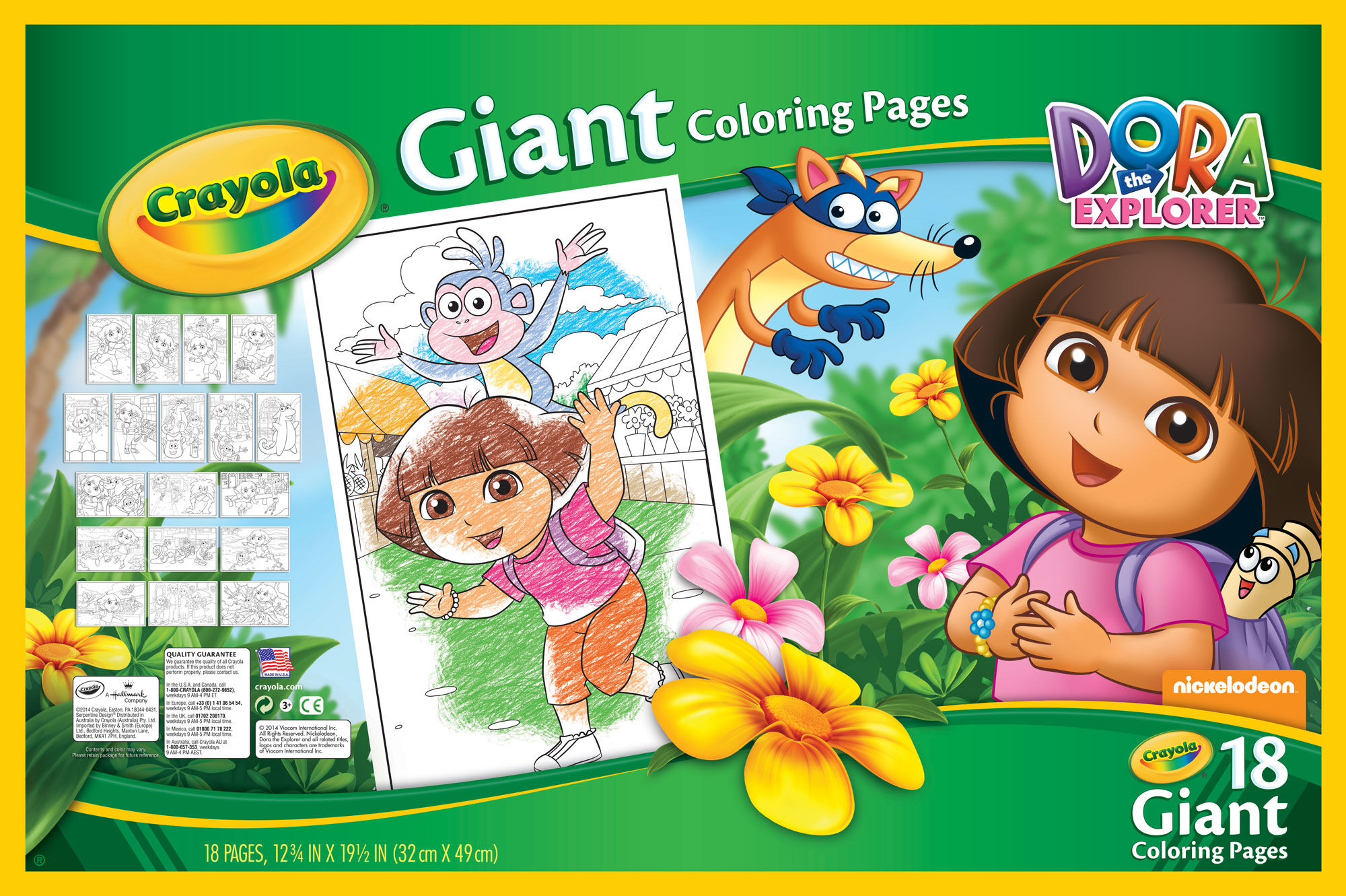 Giant Coloring Pages Dora the Explorer Crayola