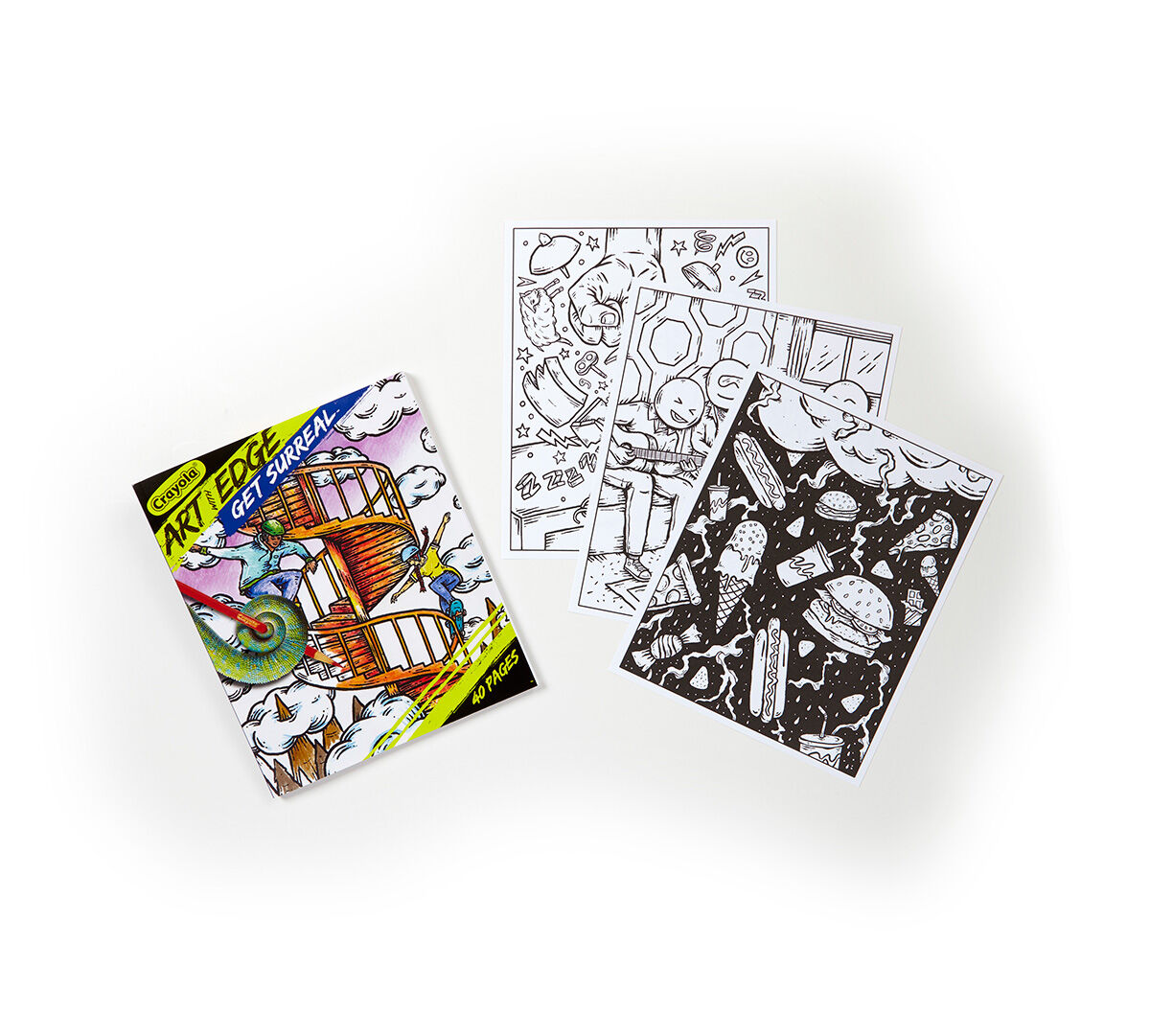 <p>The surreal, dreamlike art in these Crayola Art with Edge coloring pages become bold, intense images that pop off the page when brought to life with color. Use your imagination and artistic instincts to add color to these designs and enjoy the unexpected, mind-bending results.</p>