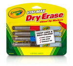 Visi-Max Dry-Erase Broad Line Markers, 4 Count