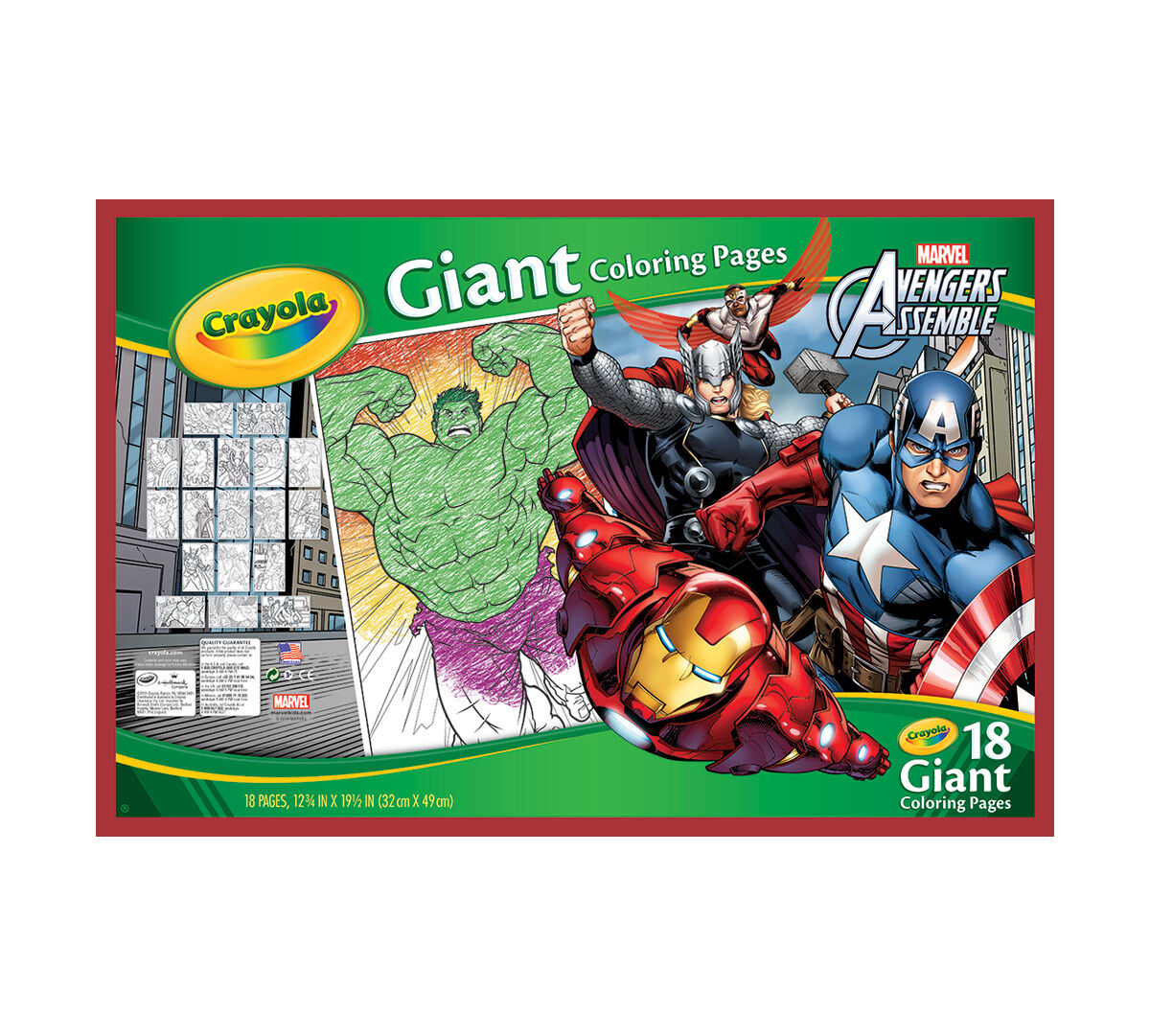giant coloring pages avengers assemble - Giant Coloring Book