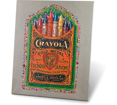 Crayola Stretched Canvas Print 16x20