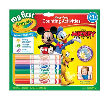 my first crayola mess free counting activities