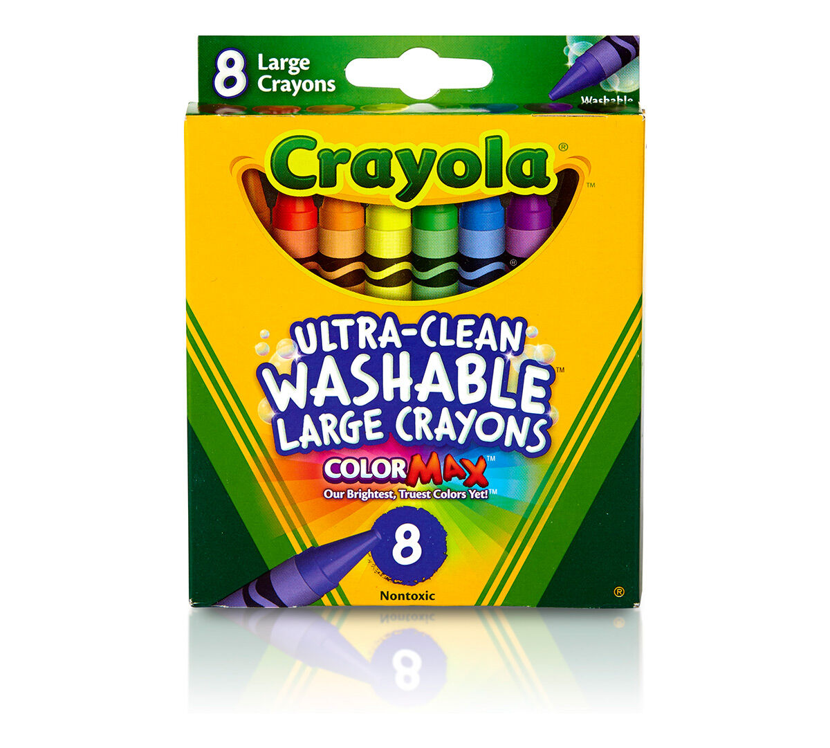 Kids First Large Washable Crayons 8 Ct