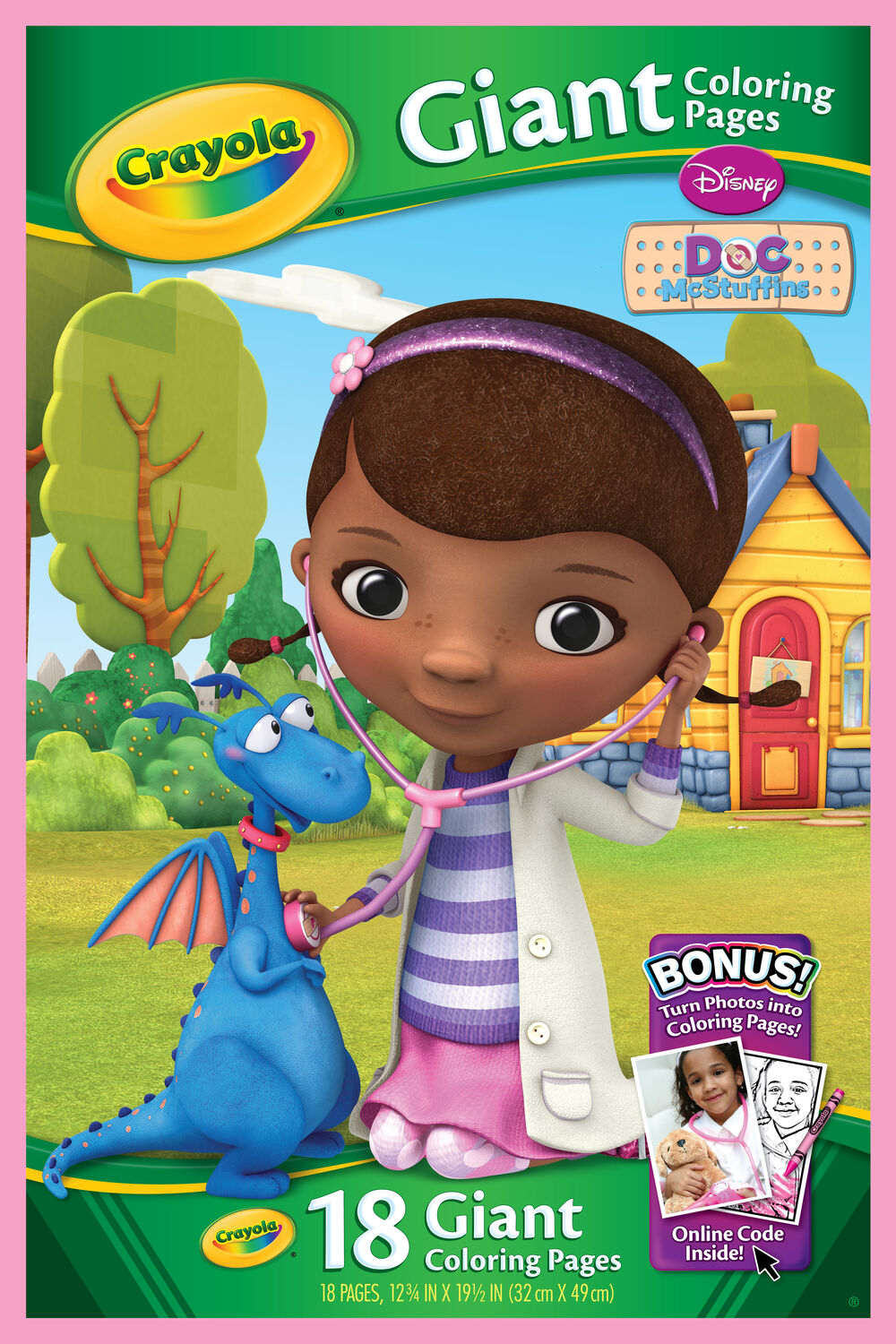 Doc mcstuffins coloring pages to color online - Giant Coloring Pages Doc Mcstuffins