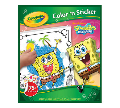 Color n Sticker Spongebob