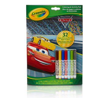 Coloring & Activity Pad w/Markers  Cars 3