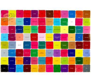 Crayola Color Block Poster 22x28 Crayola