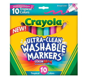 Ultra-Clean Markers, Broad Line, Tropical, 10 ct.