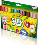 Silly Scents Wedge Tip Scented Washable Markers-12 ct.