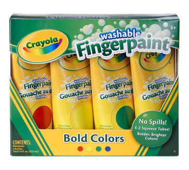 Washable Finger Paint, Bold Colors 4 ct.