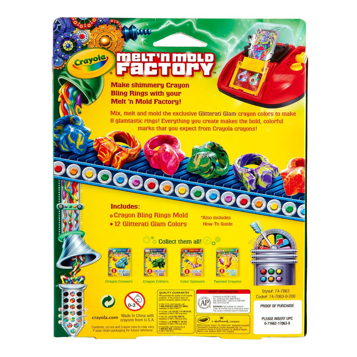 Crayon Rings Melt N Mold Factory Bling Rings Glitterati Glam Pack Crayola