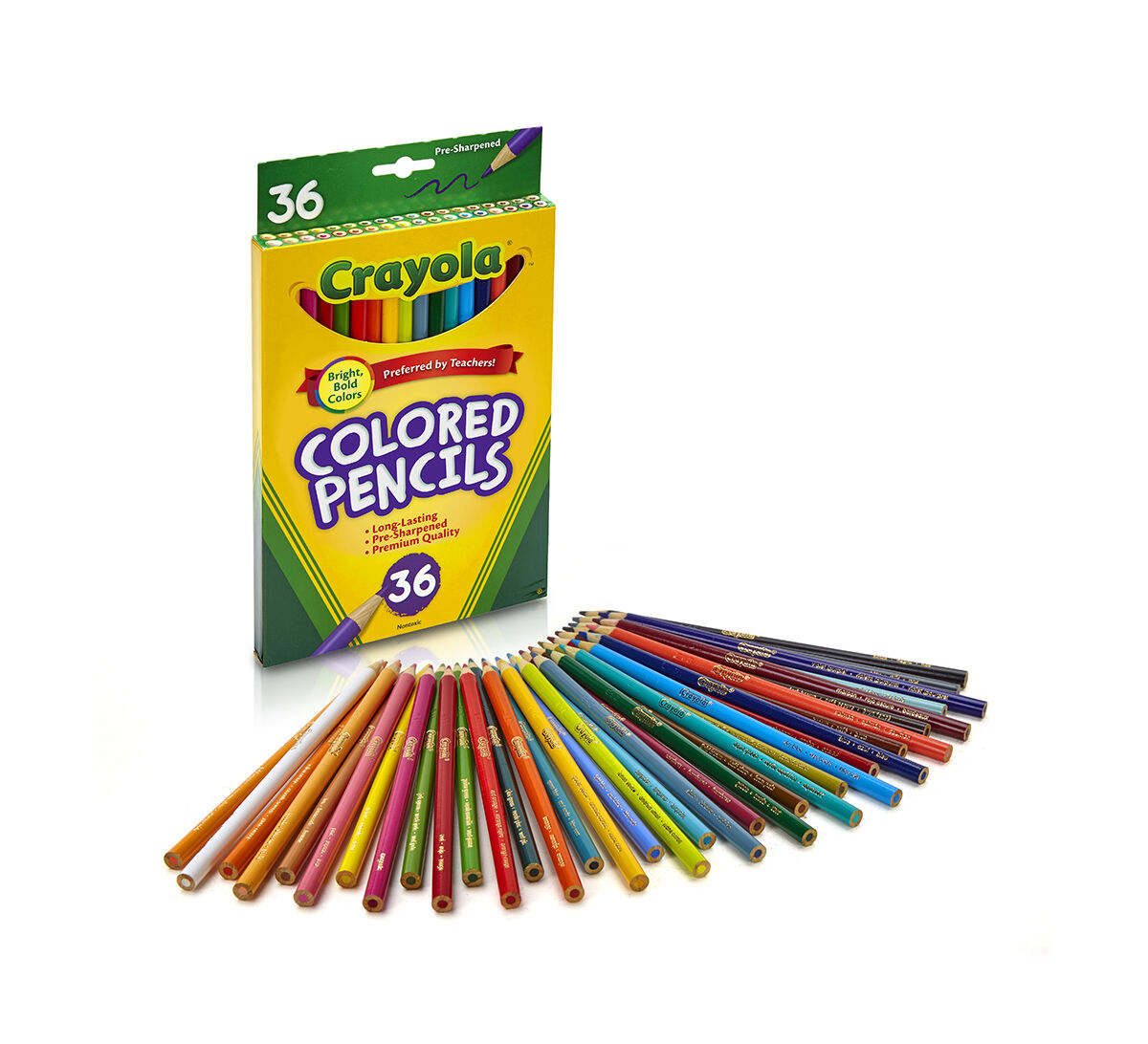 colored pencils long 36 ct - Crayola Write Start Colored Pencils