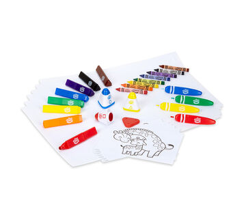 My First Crayola First Marks Bundle, Art Set for Toddlers, With Bonus Activity