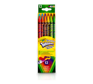 Erasable Twistables Colored Pencils, 12 Count