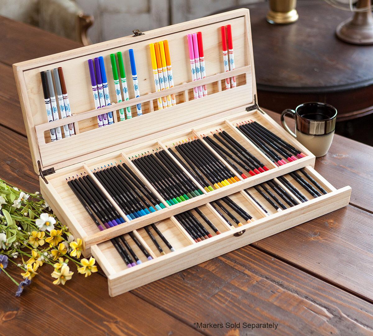 Color Escapes Wooden Art Case Crayola