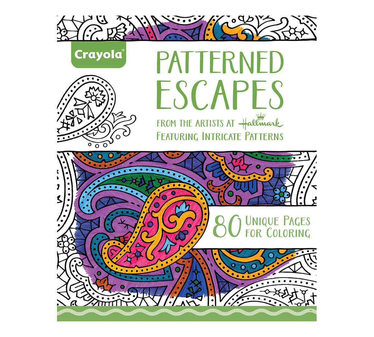crayola pattern escapes coloring art activity 40 pages