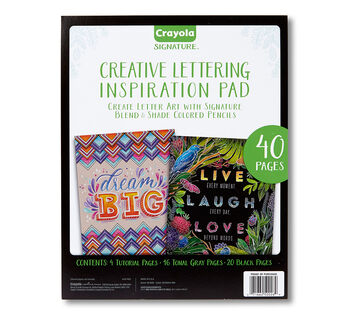 Signature Creative Lettering Inspiration Pad Front