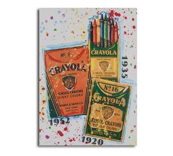 Crayola Vintage Timeline Poster 22x28