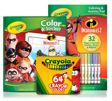 The Incredibles 2 Coloring Pages, Stickers & Activities