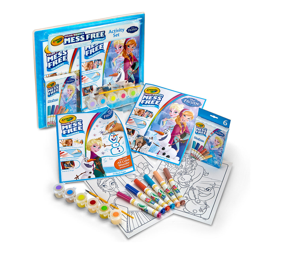 Co color in cars activity - Color Wonder Mess Free Frozen Activity Set