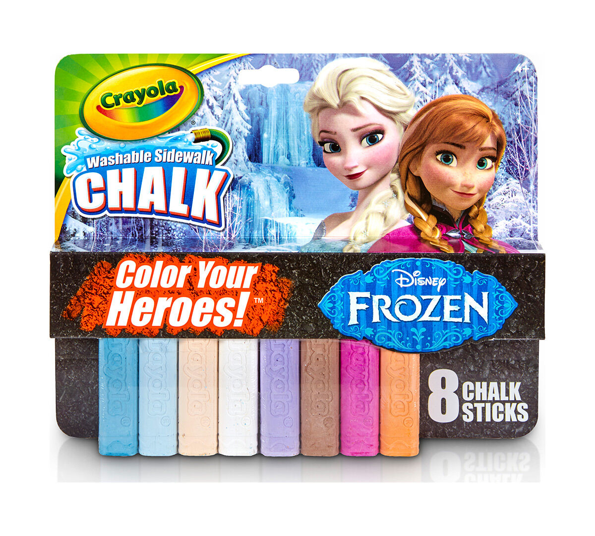 frozen washable sidewalk chalk color your heroes