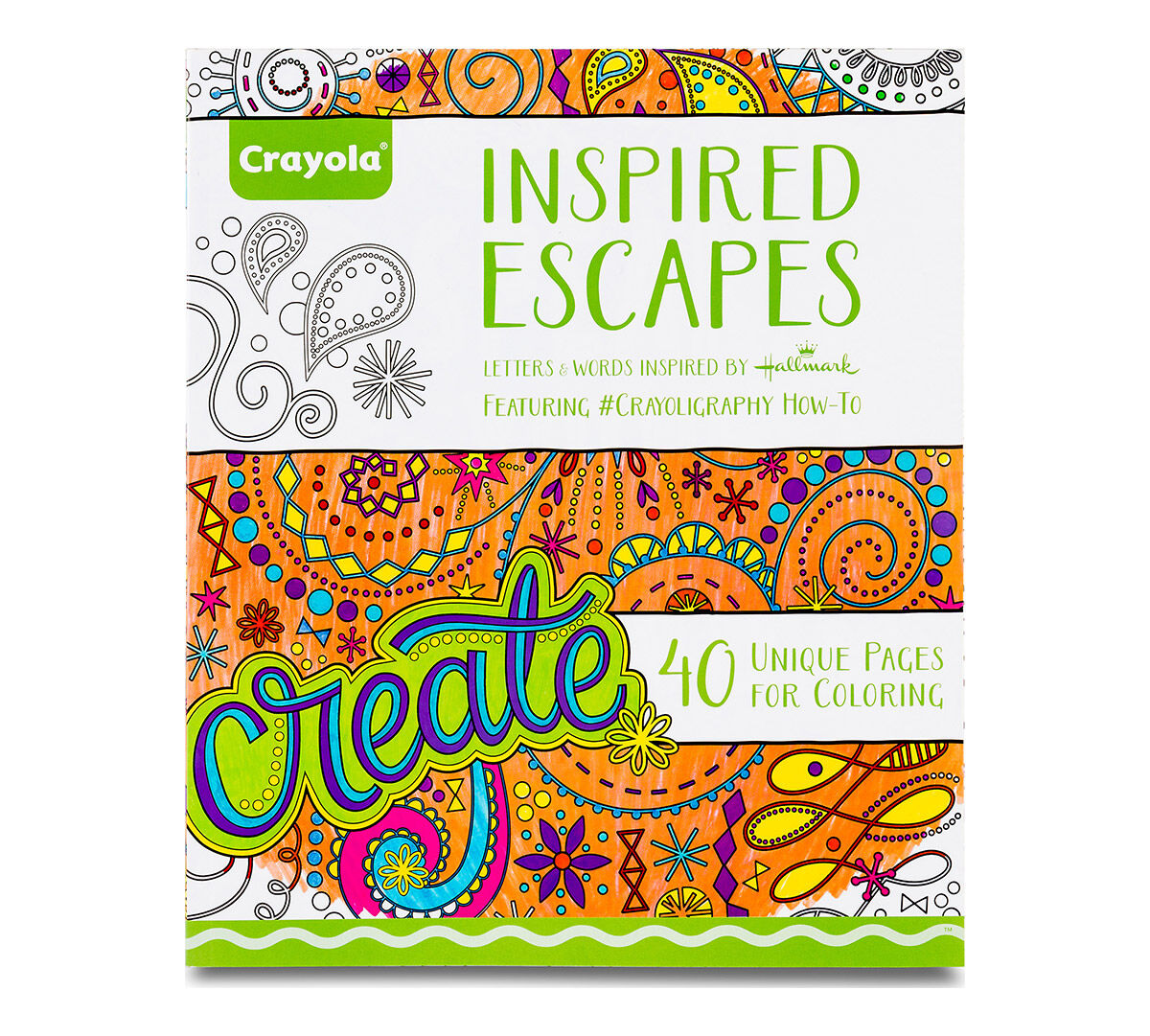Crayola Inspired Escapes, Adult Coloring Art Activity, 40 Pages ...