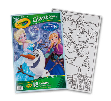 giant coloring page frozen