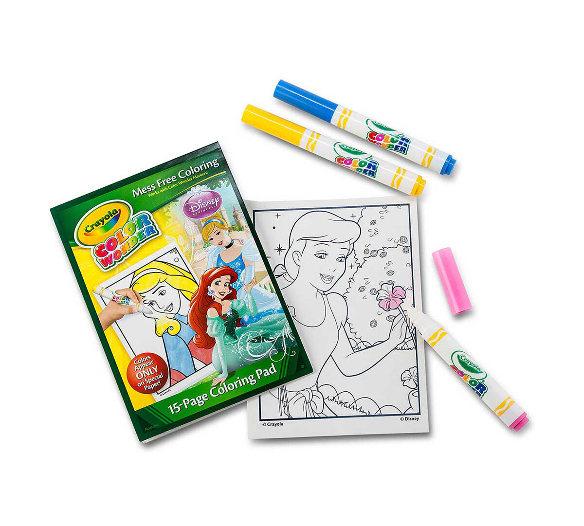 color wonder coloring pad u0026 markers disney princess crayola