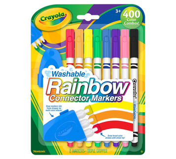 Washable Rainbow Connector Markers