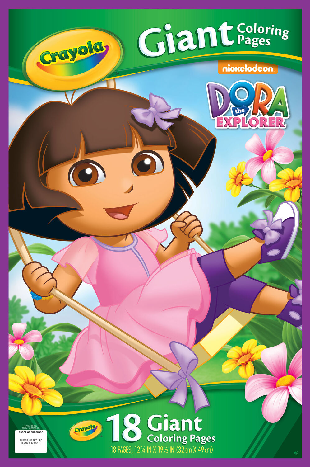 giant coloring pages dora the explorer