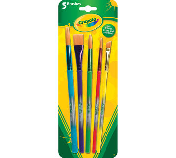 5 ct Arts & Crafts Brushes