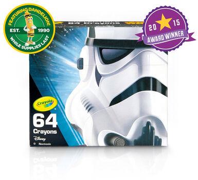 Star Wars, Stormtrooper 64 Count Crayon Box