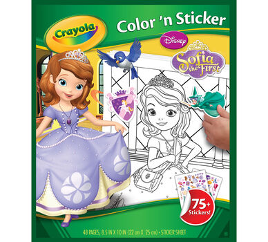 Sophia the First Color 'n Sticker Book