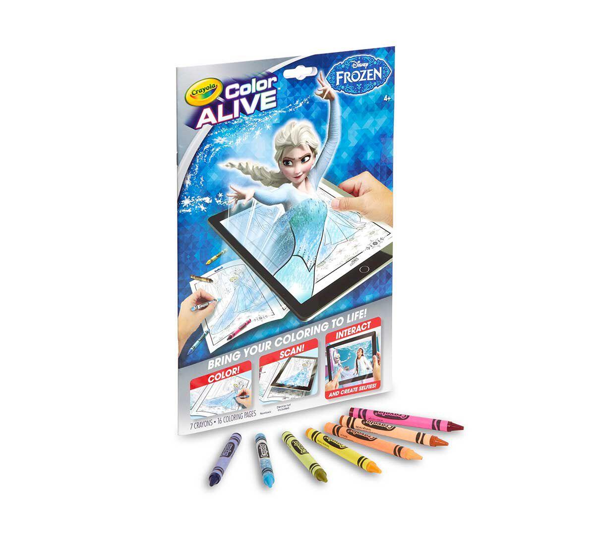 color alive frozen - Color Alive Coloring Book