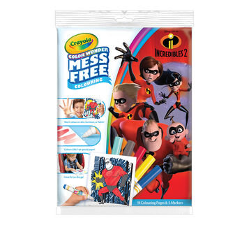 Color Wonder Coloring Pad And Markers Incredibles 2