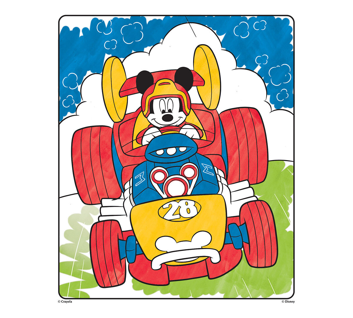 color wonder coloring pad and markers mickey and his roadster racers