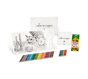 Color Escapes Adult Coloring Kit National Parks