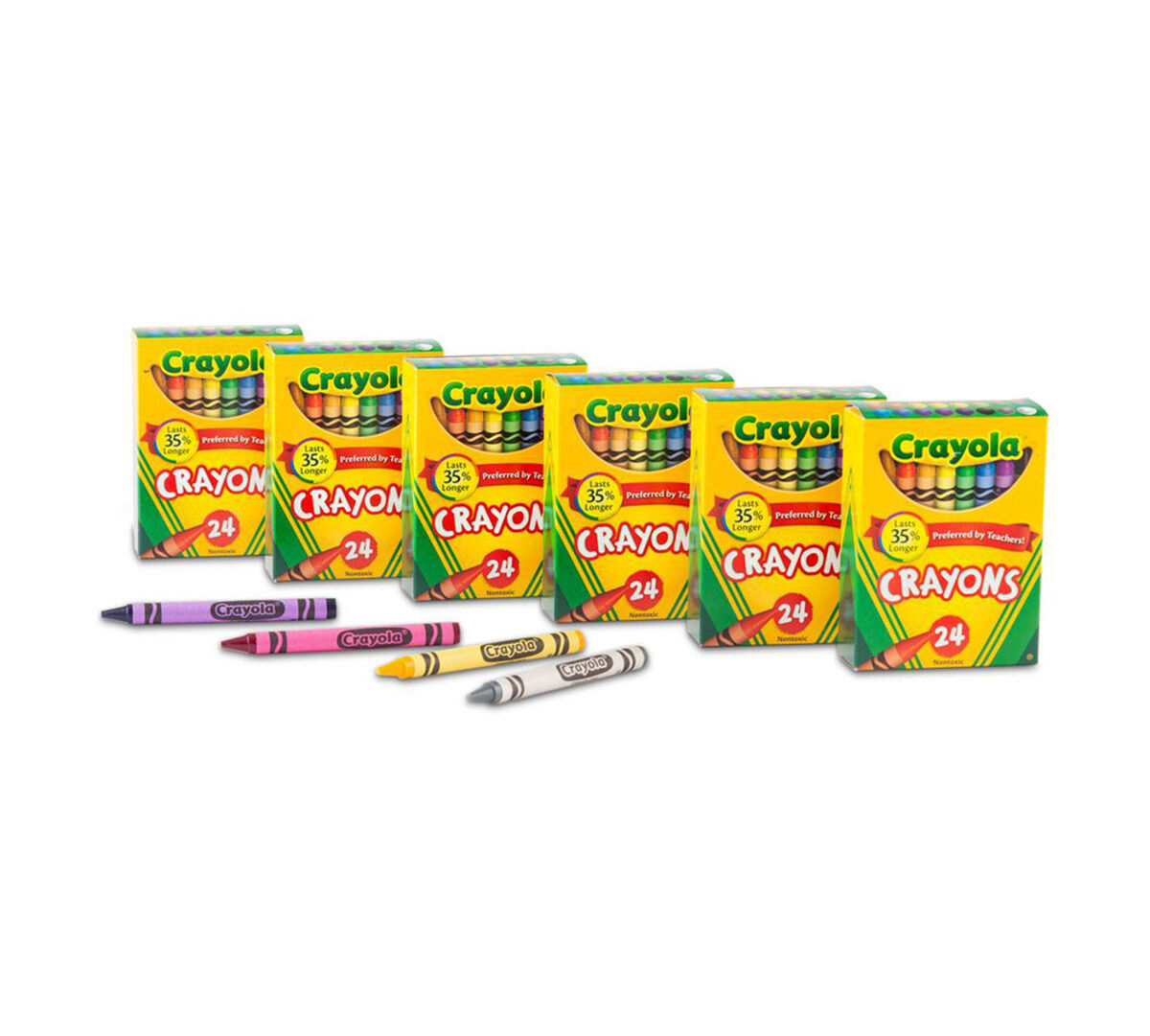 <p> The 24 count crayons 6 Pack includes 6 individual packs of Crayola 24 count crayons! </p>
