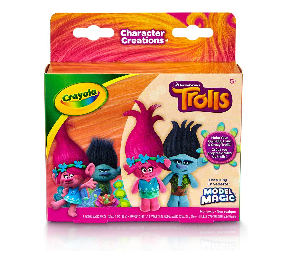 crayola model magic character creations trolls biggie u0026 branch