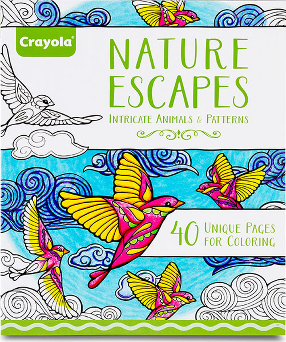 Nature Escapes Adult Coloring Books